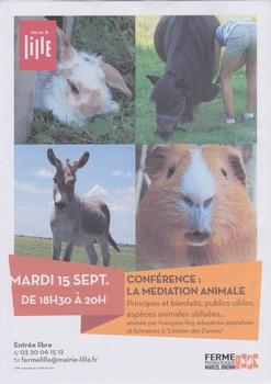 Affiche conférence médiation animale